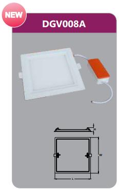 Đèn led panel âm trần vuông Duhal DGV008A