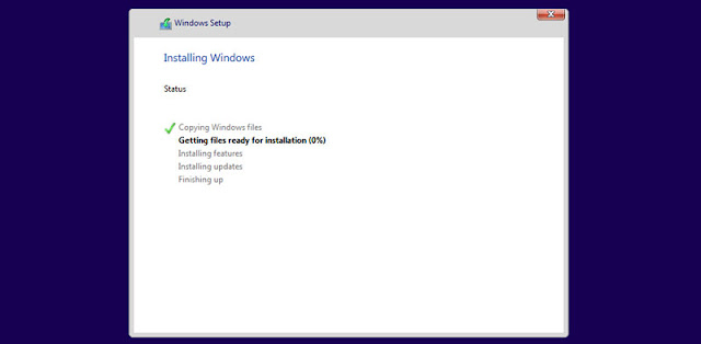 Windows 10 installation appeared