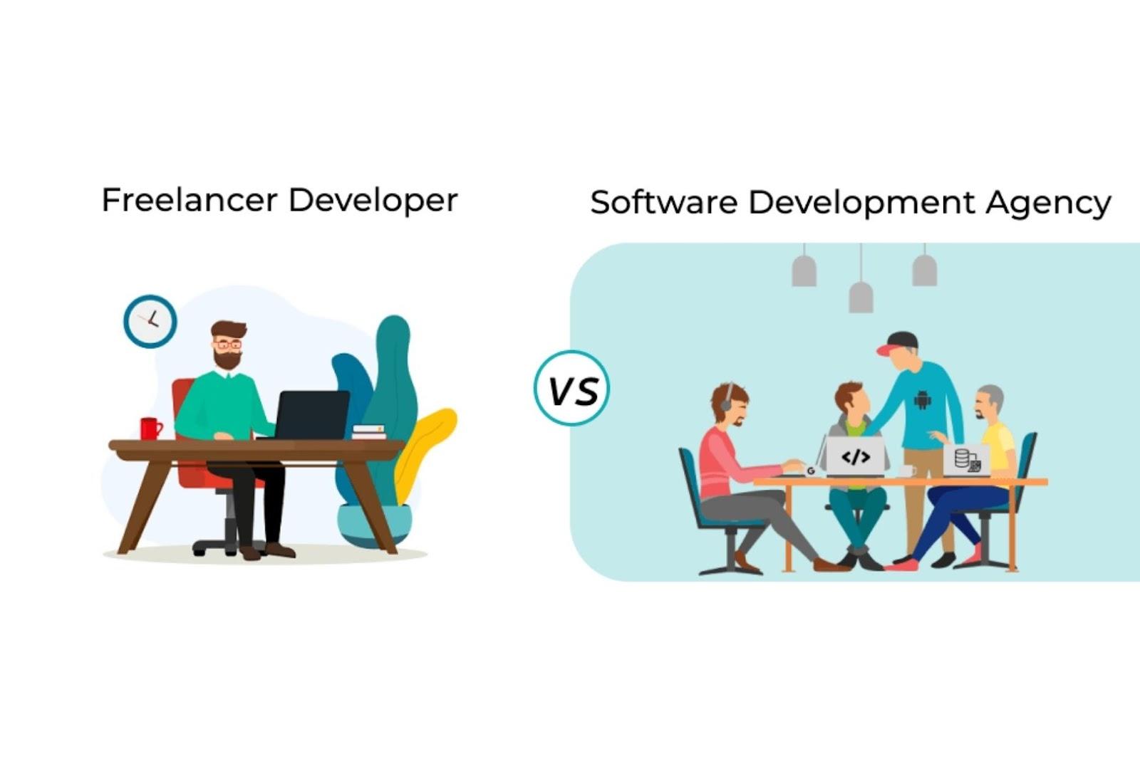 costs of hiring a freelance developer vs hiring a software development agency