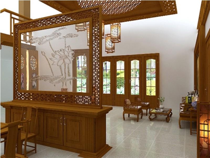 Vách ngăn gỗ tự nhiên theo phong cách cổ điển