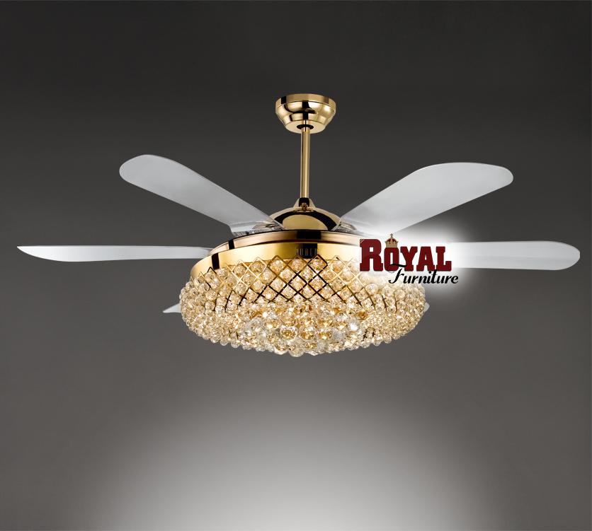 Quạt trần đèn giúp không gian căn phòng thêm lung linh, đẳng cấp