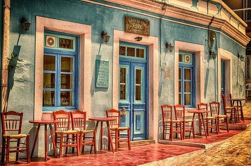 Cafe, Architecture, Building, Greece