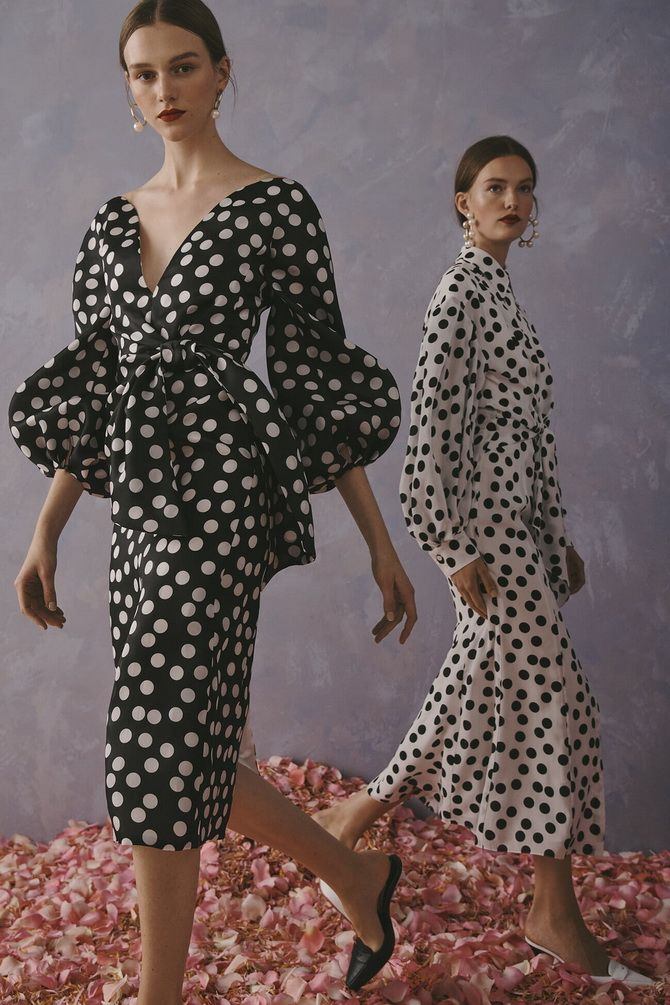 White polka dot dress 2020-2021