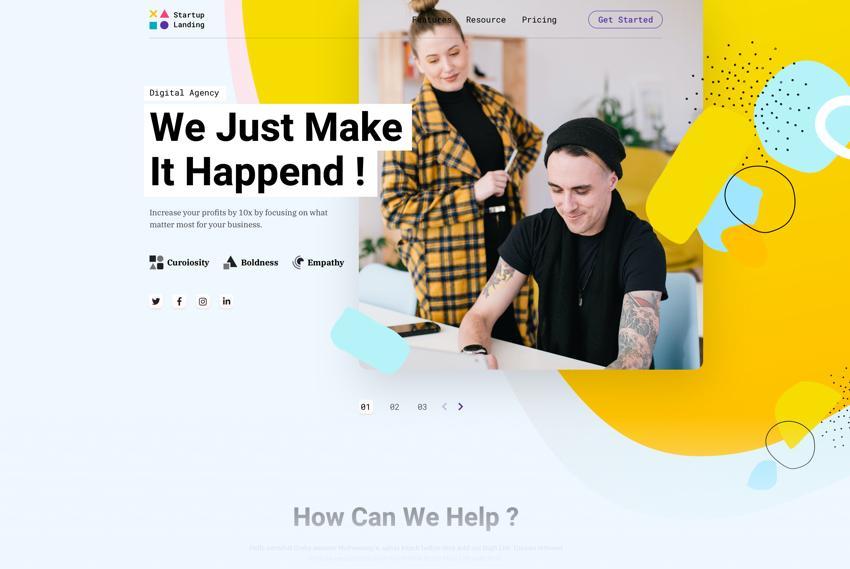 Startup Landing Joomla Template