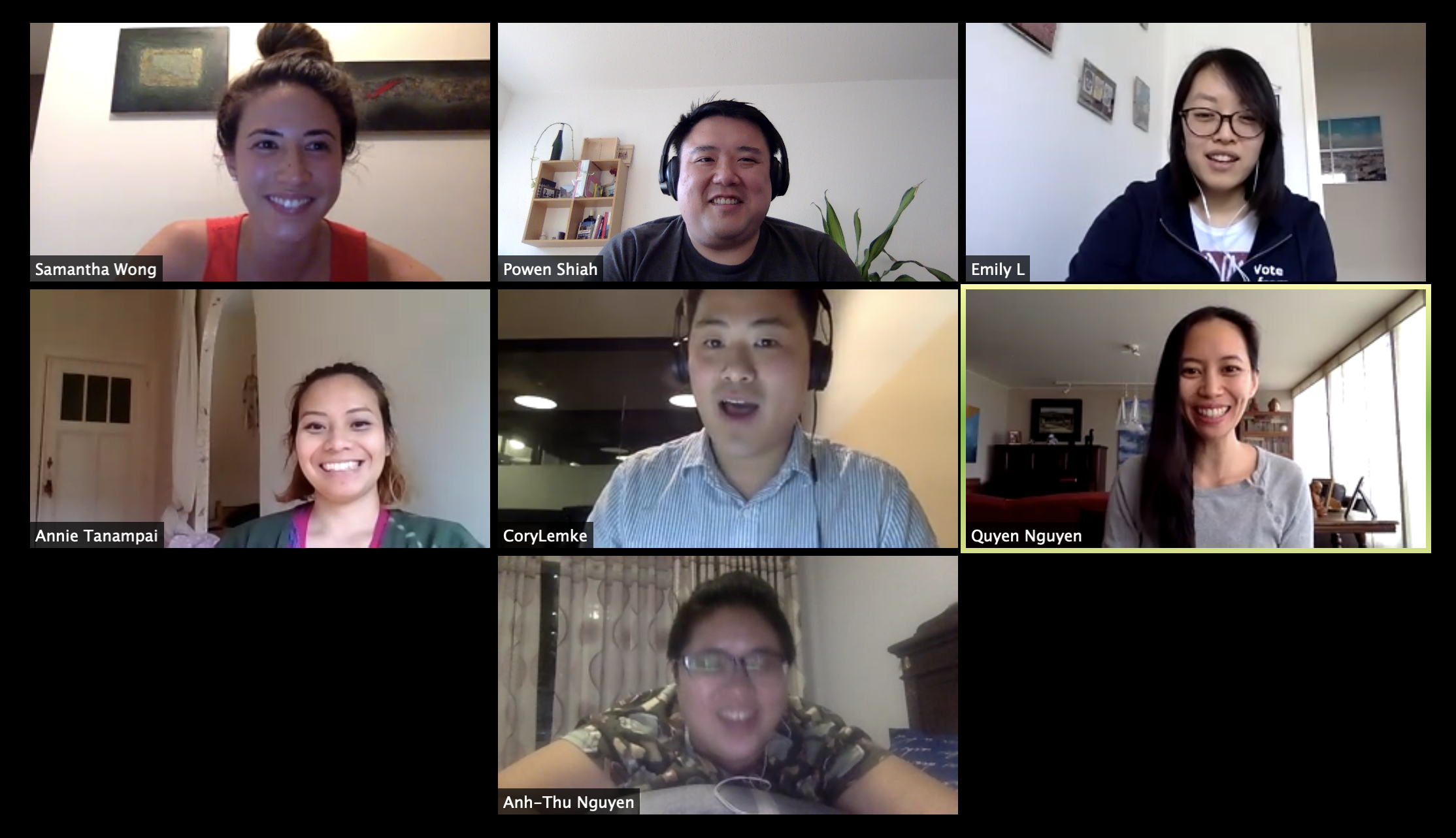 First AAPI Caucus video call on April 16, 2020