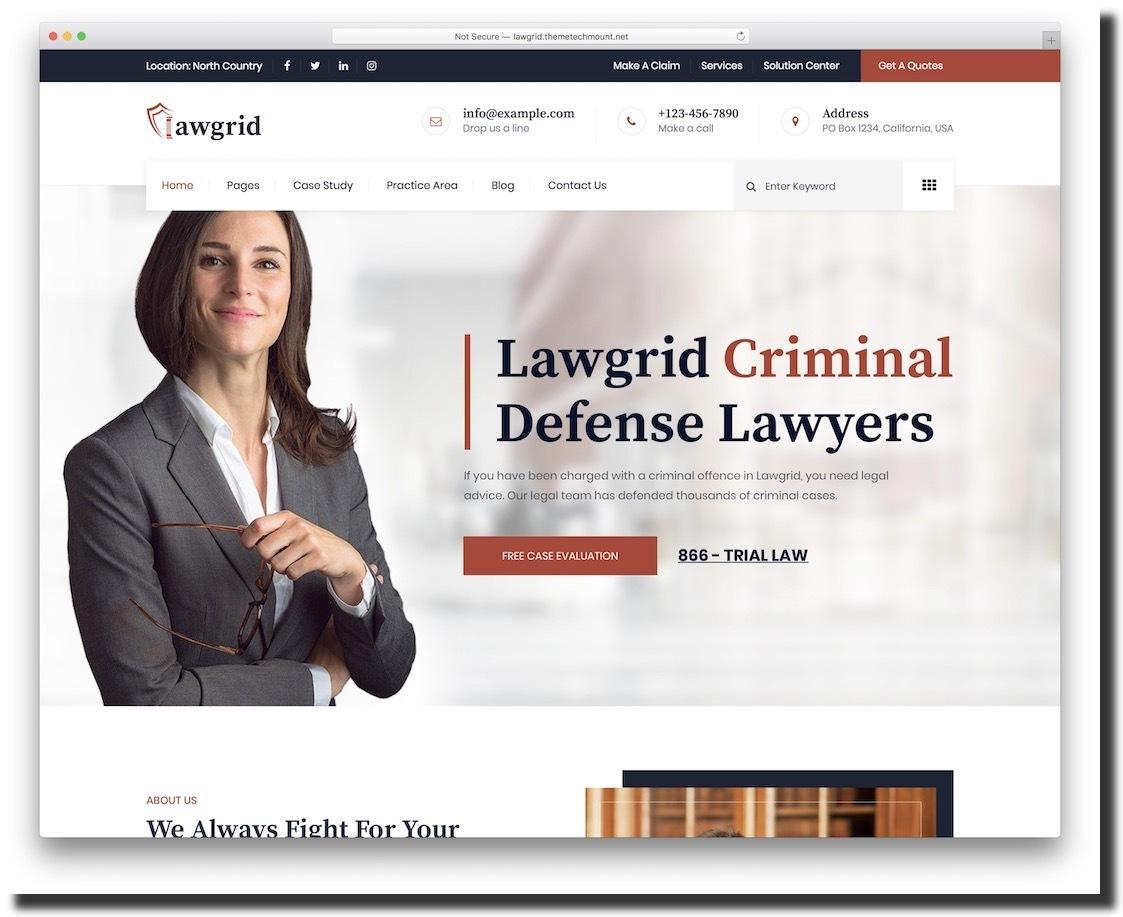 Lawgrid website template