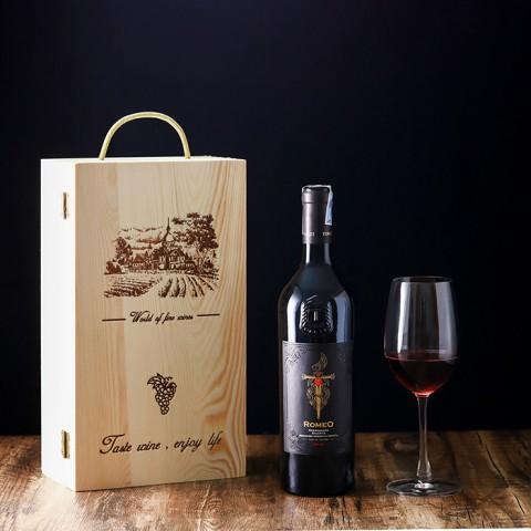 Hộp rượu khắc tên - Phụ kiện nâng tầm giá trị, đẳng cấp cho món quà
