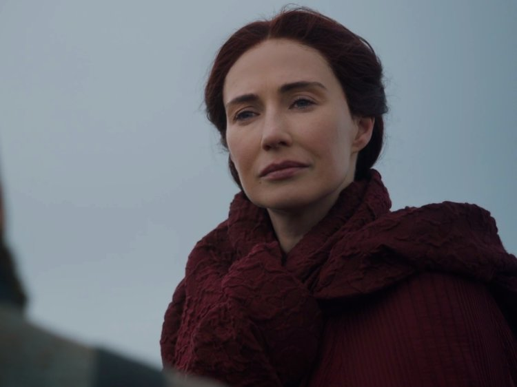 Melisandre told Varys she plans on returning to Volantis, which is where the High Priestess of R'hllor, Kinvara, should be.
