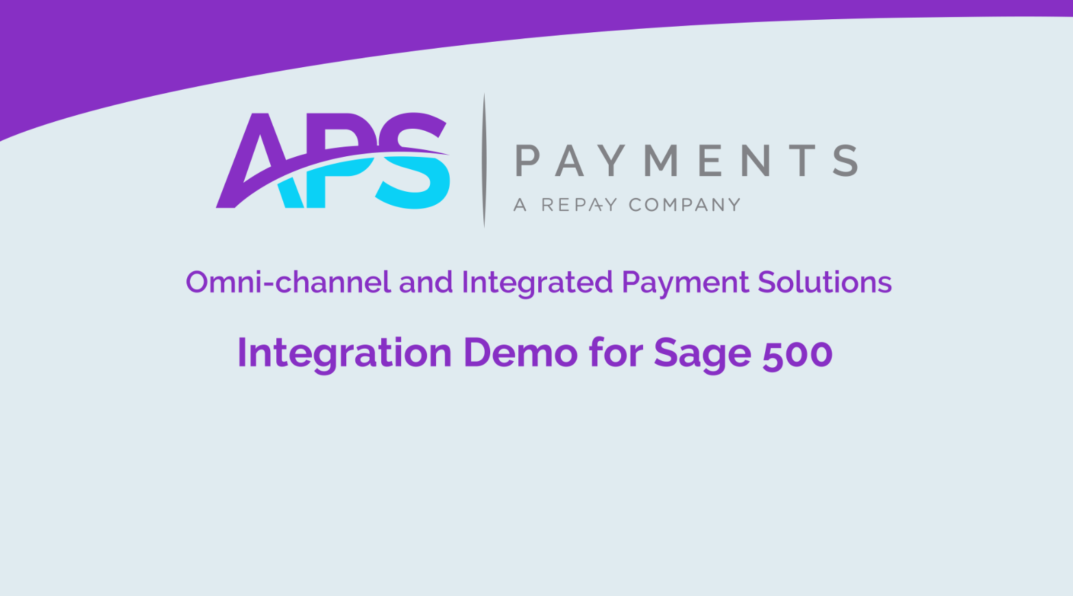 Sage 500 Shipping & Payments