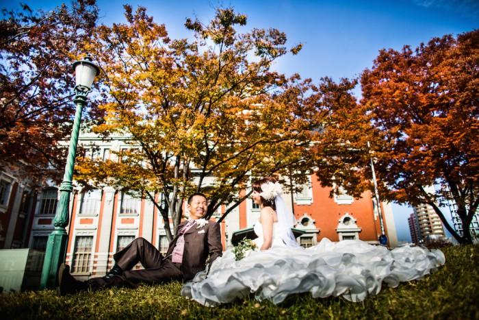 大阪中之島での結婚式写真