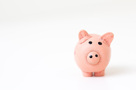 a small piggy bank representing money saving