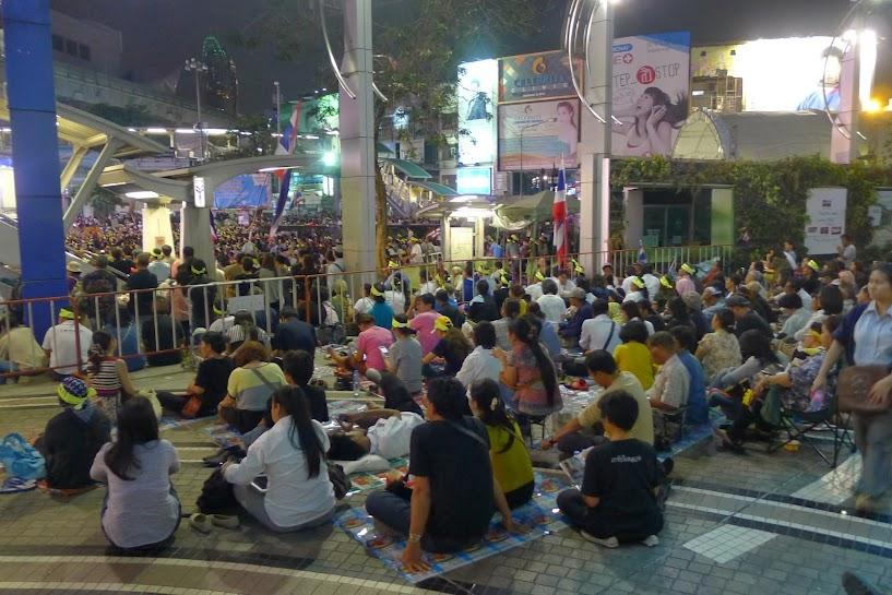 Biểu tình ở Bangkok du lịch Bangkok