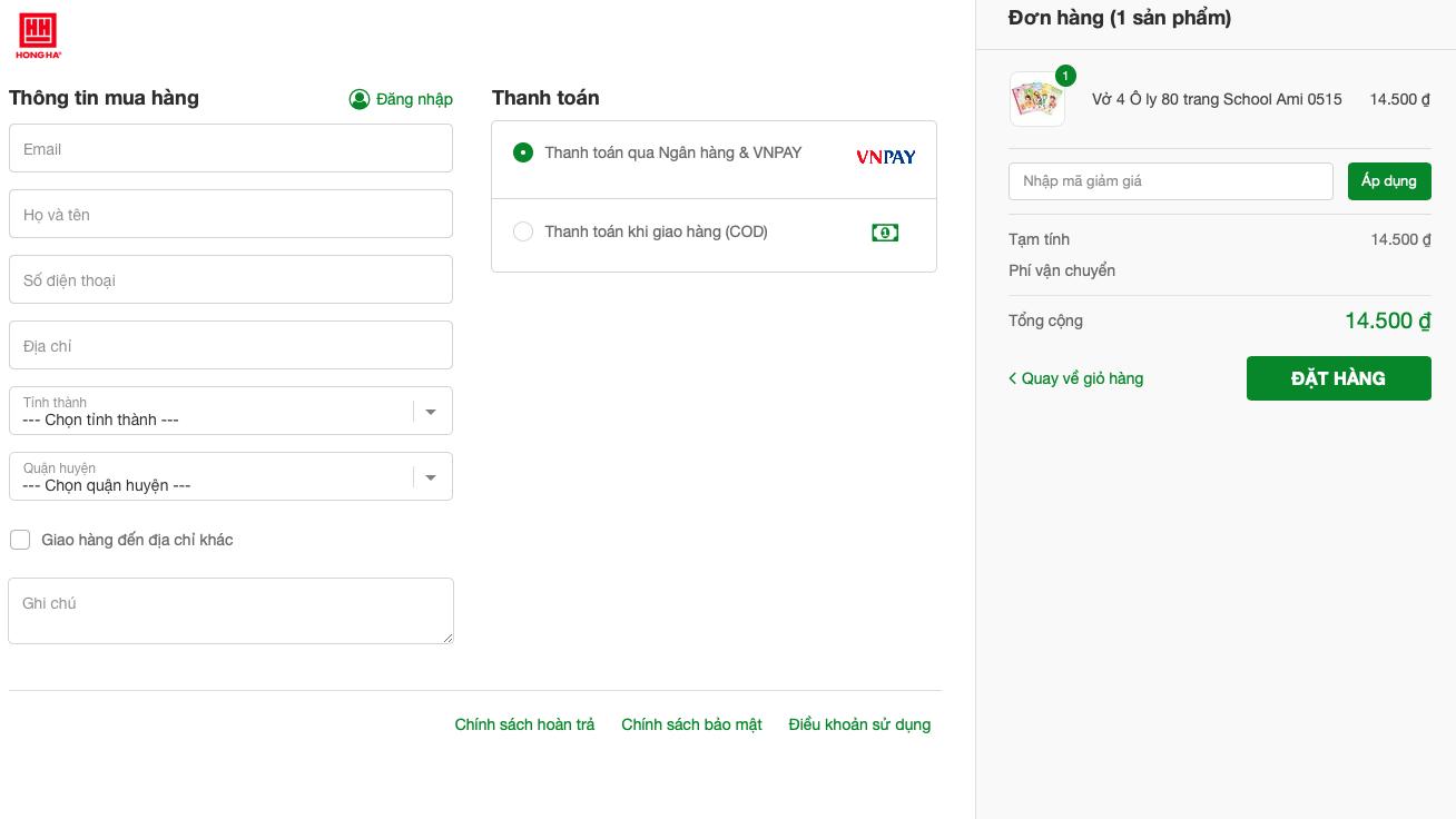 Thông tin mua hàng của khách hàng