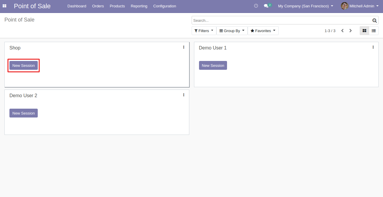 Moving on, you can launch any POS session to use the Odoo POS order history & re-order.