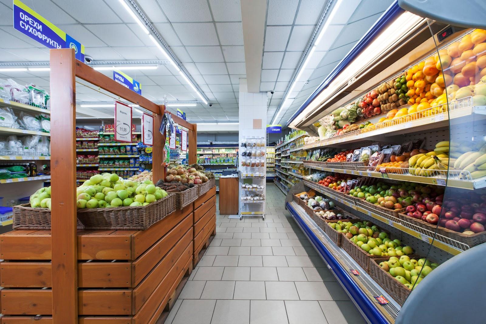 открыт магазин продуктов