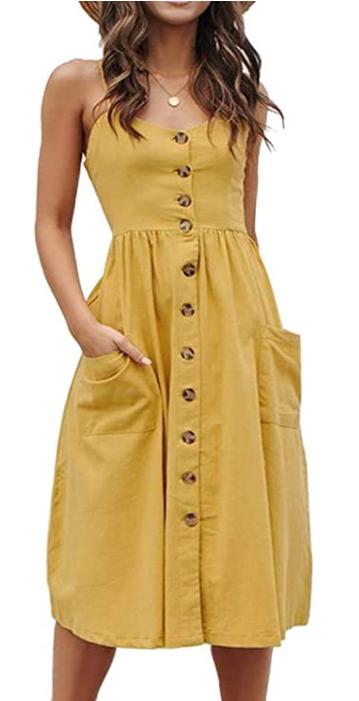 casual summer dresses spaghetti strap