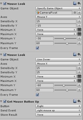 Unity3d PlayMaker recipes