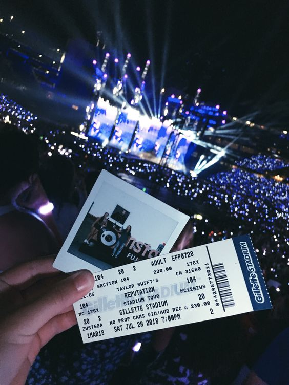 #polaroid #ticket #concert #gilletestadium #taylorswift #reputation #tour #music #throwback #fun #summer #bucketlist #aesthetic #photography #picture #instax #fujifilm