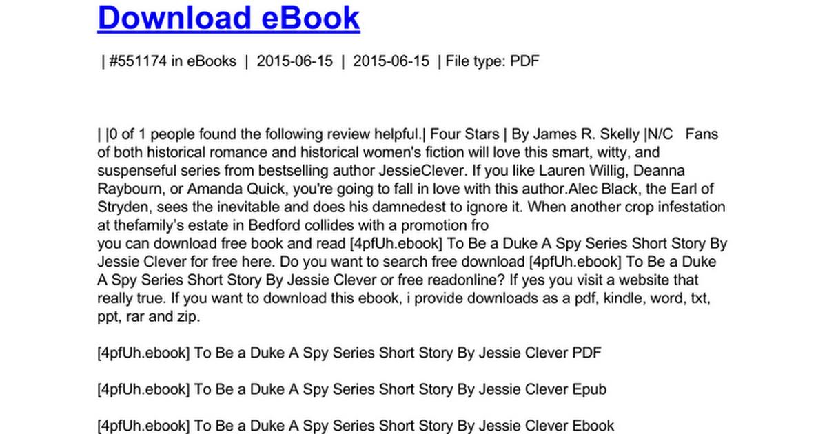 short spy stories pdf
