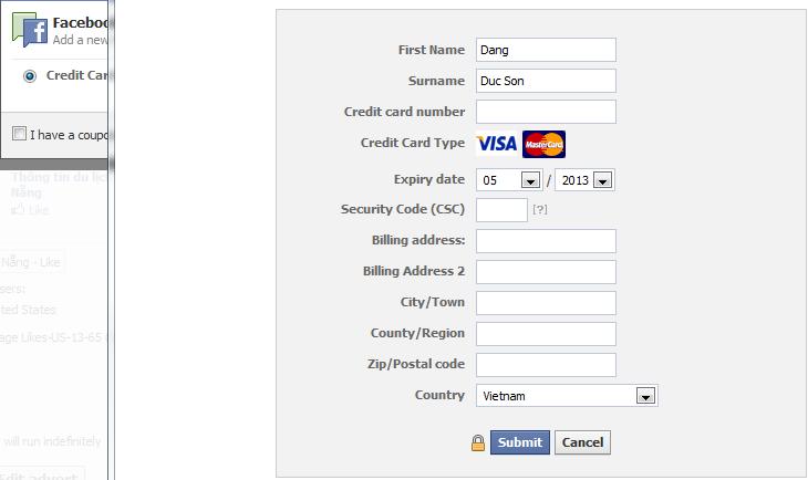 thiet lap visa thanh toan quang cao facebook Hướng dẫn tạo quảng cáo trên facebook