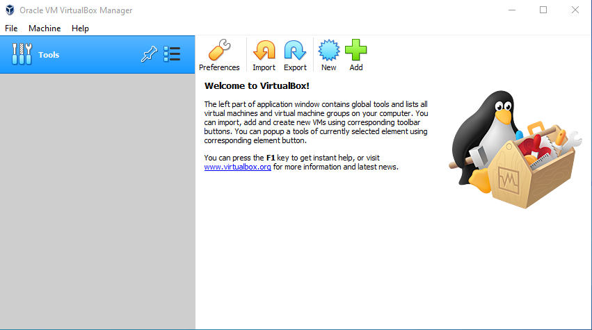 Virtual Hacking Lab - Launch VirtualBox. Source: nudesystems.com