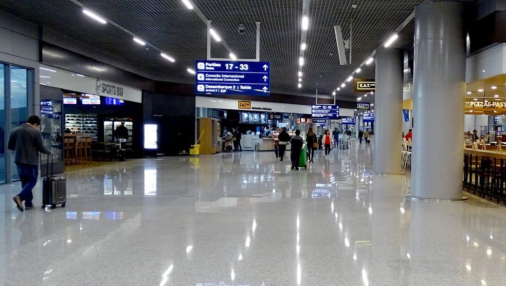 Aeroporto Internacional de BH, em Confins, em foto de arquivo, tirada antes da pandemia — Foto: Humberto Trajano/G1