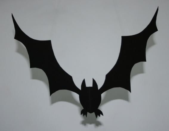 home made halloween decorations - Bat Halloween Decorations