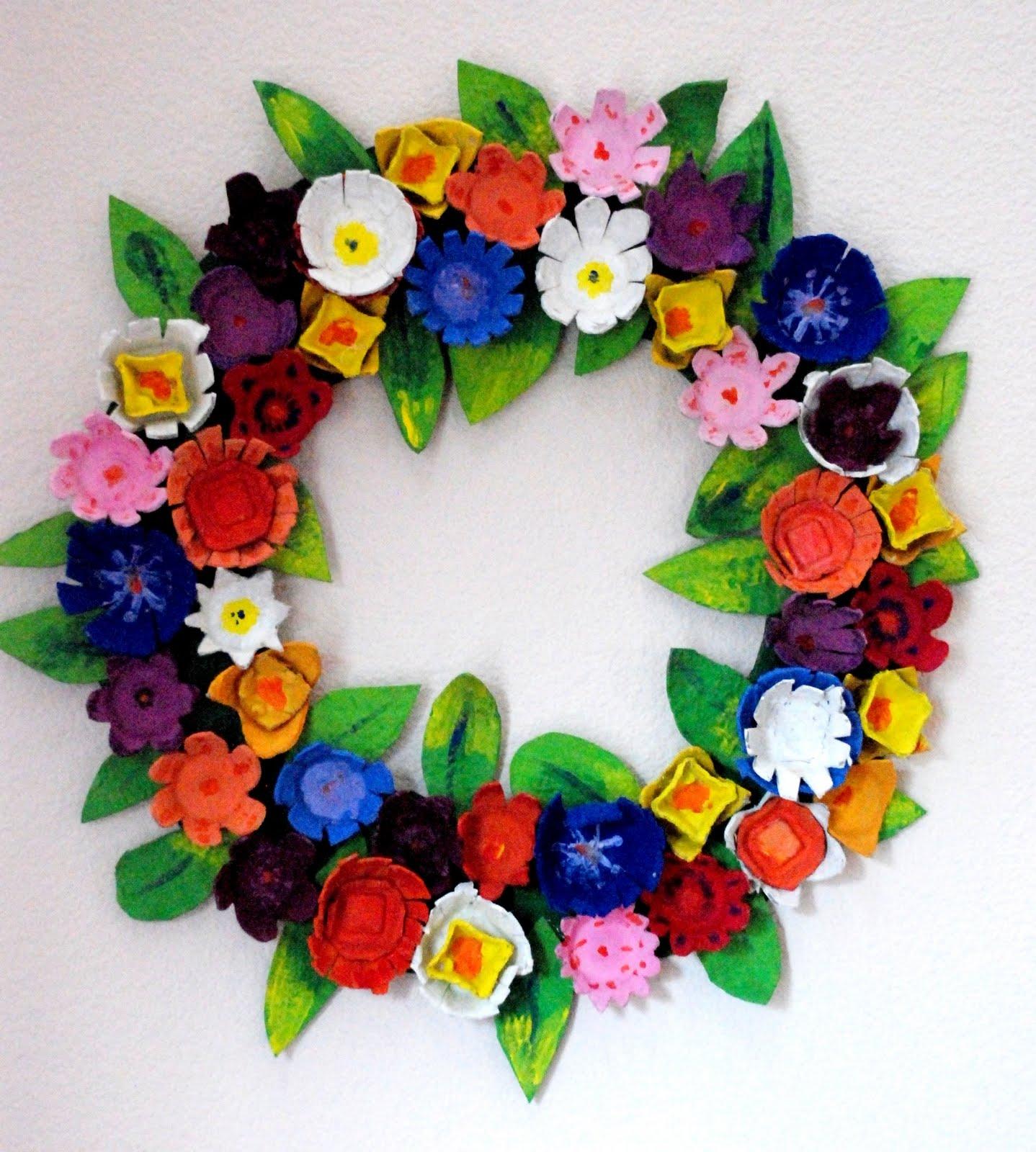 Gubahan Bunga Hiasan Bekas Telur Kitar Semula Relaks Minda