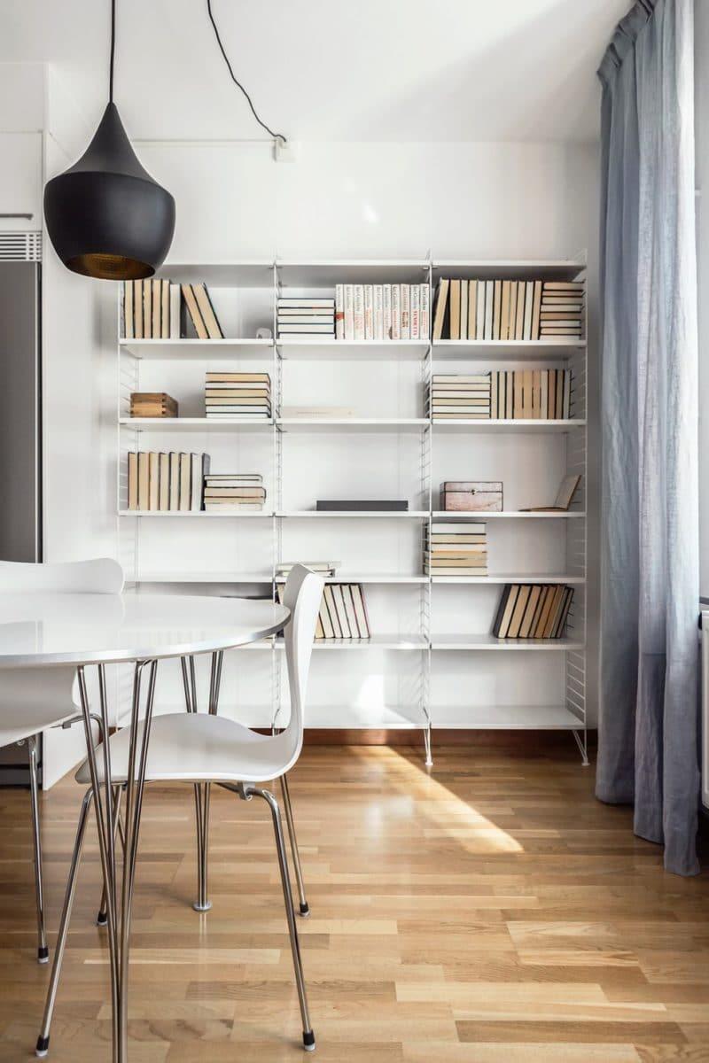 Phòng đọc sách với thiết kế đơn giản