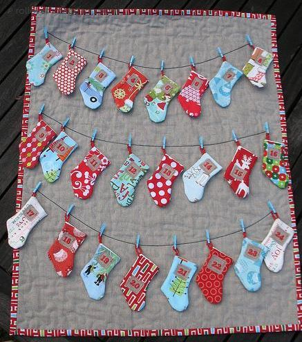 Bluprint Pattern - Advent Calendar with Stockings