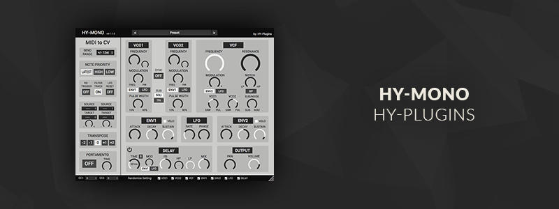 HY-Mono by HY-Plugins (Windows, Mac OS)