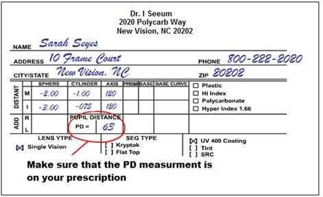 how to read your eyeglass prescription and buy glasses online