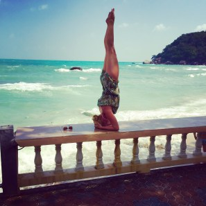 handstands, yoga