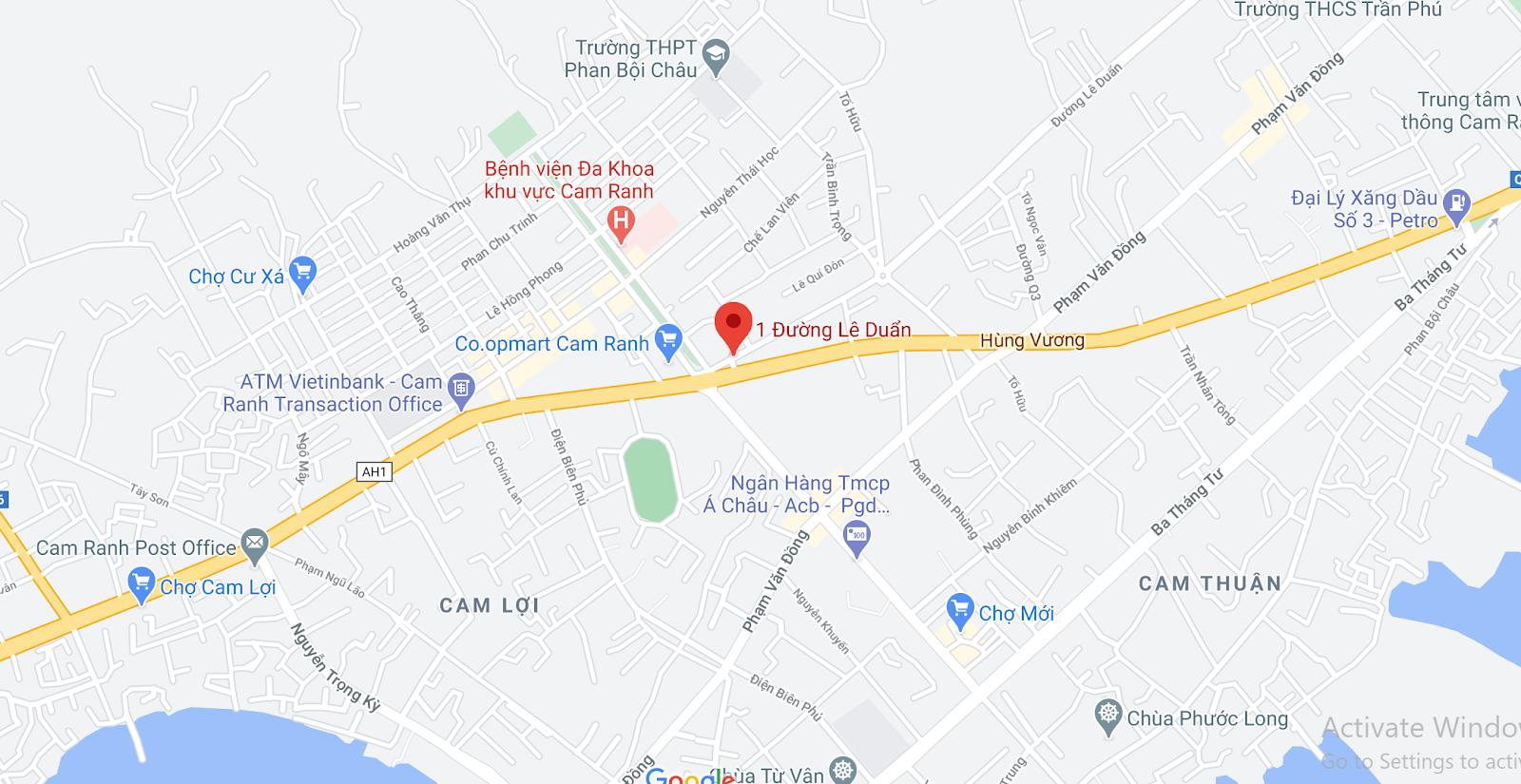 Địa chỉ Văn phòng nhà xe Trà Lan Viên tại Cam Ranh
