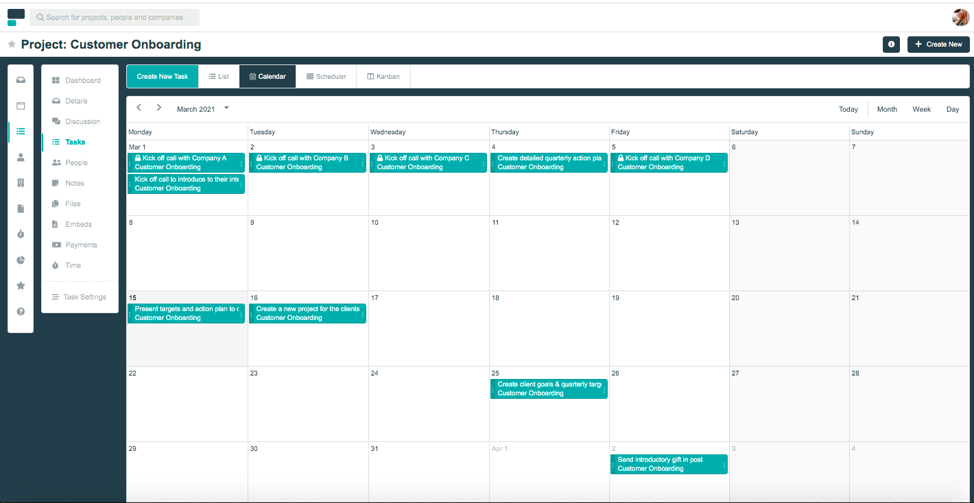 Project.co calendar view