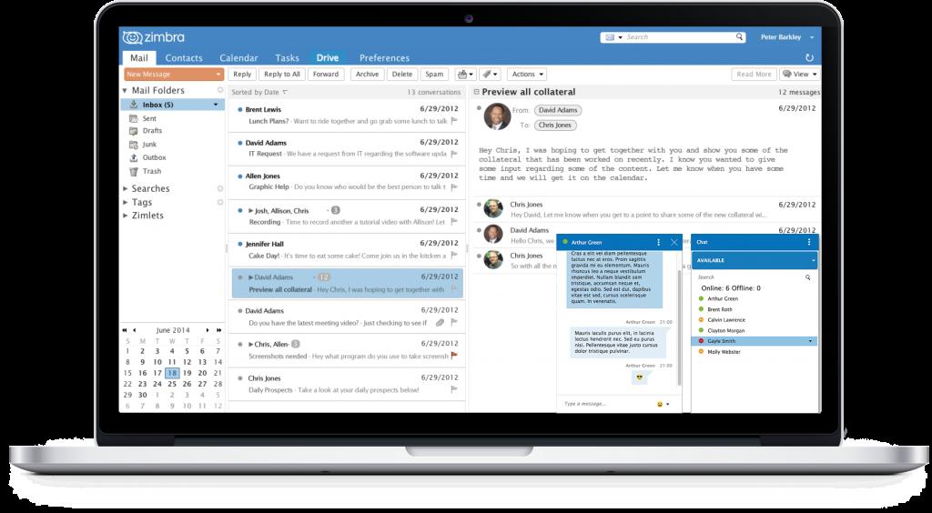 Zimbra là phần mềm email và lịch làm việc miễn