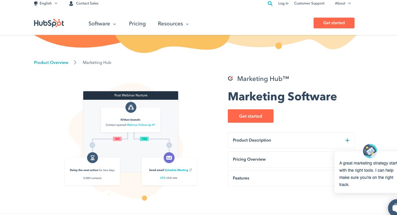HubSpot email marketing software