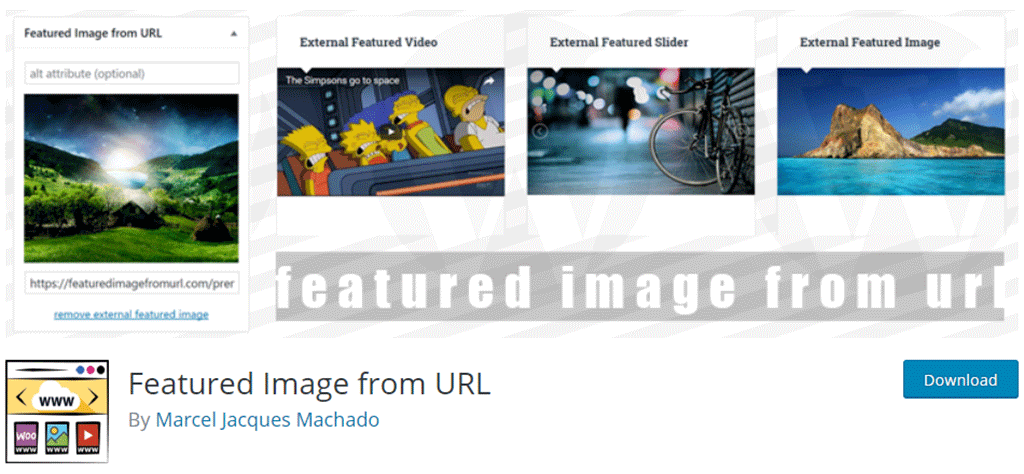 plugin featured image from url para wordpress