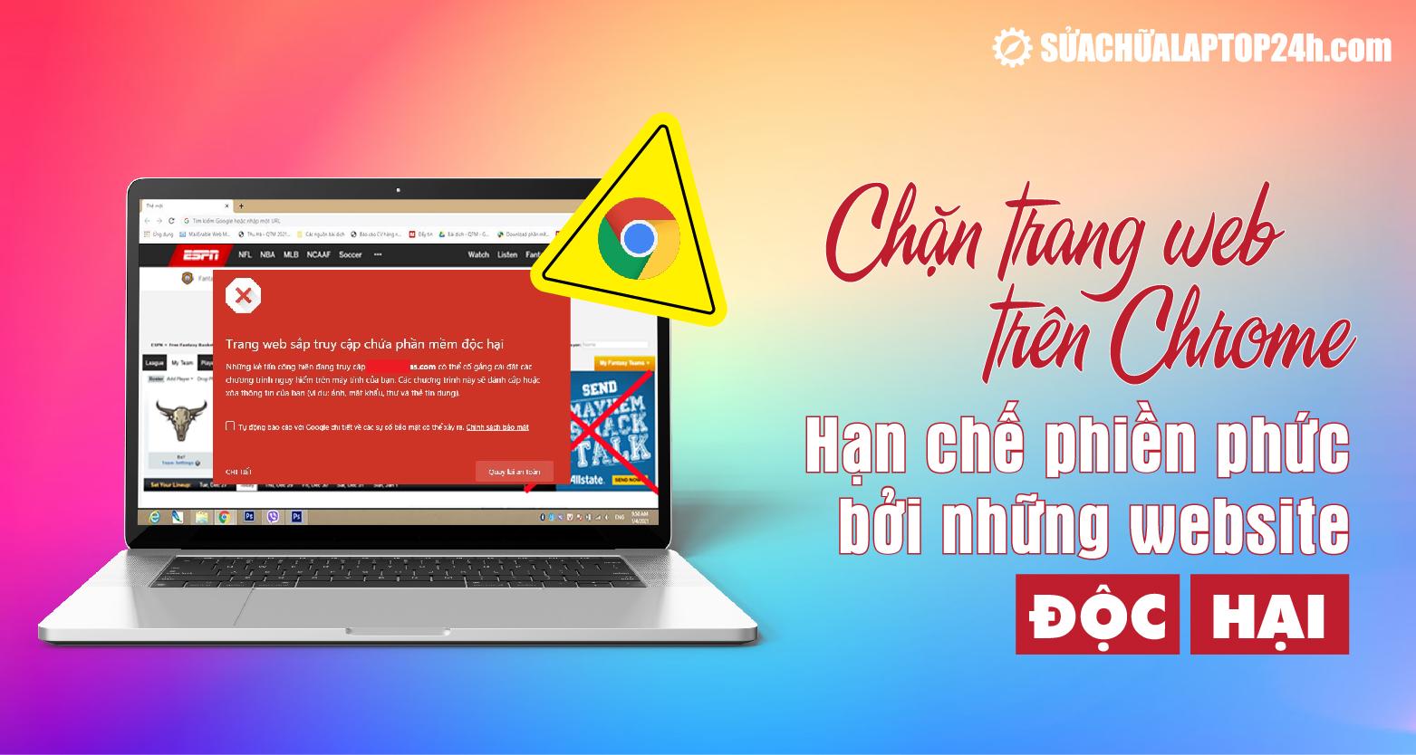 Hướng dẫn chặn trang trên Chrome