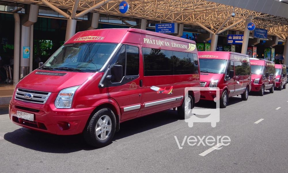 Dàn xe Limousine Phát Lộc An đi Vũng Tàu