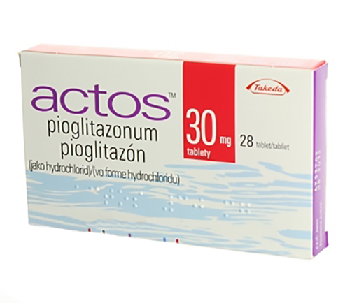 Packaging of the drug Actos