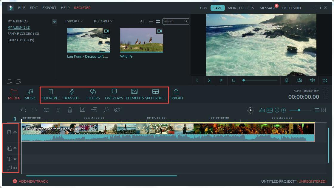 key features of video effects software