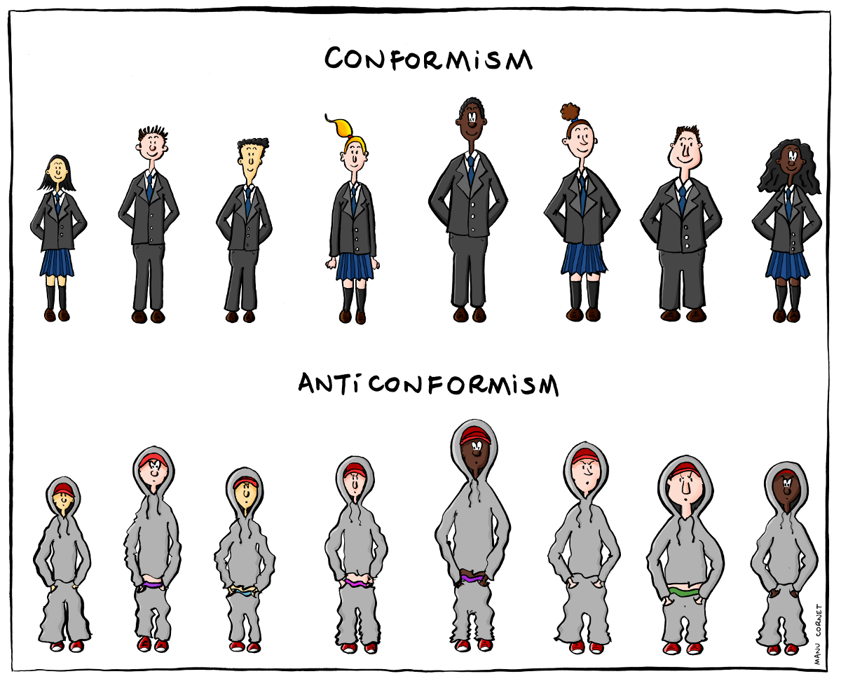 conformity can be dangerous in society In a way, conformity—the blind emphasis on sameness and repetition—is the real villain of dead poets society it's important to understand where conformity comes from and why it has the potential to be so dangerous.