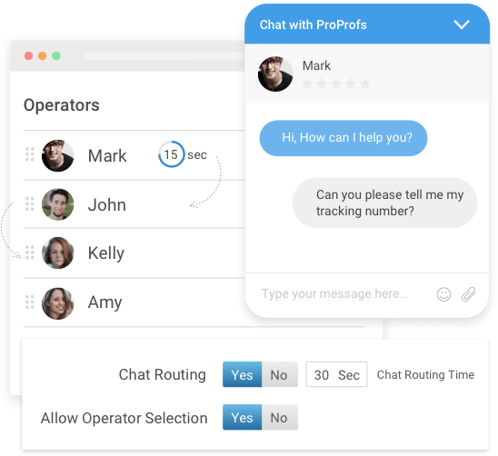 Integrate help desk ticketing system with live chat