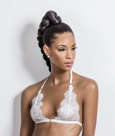 Feminine lingerie designed by a woman of color.