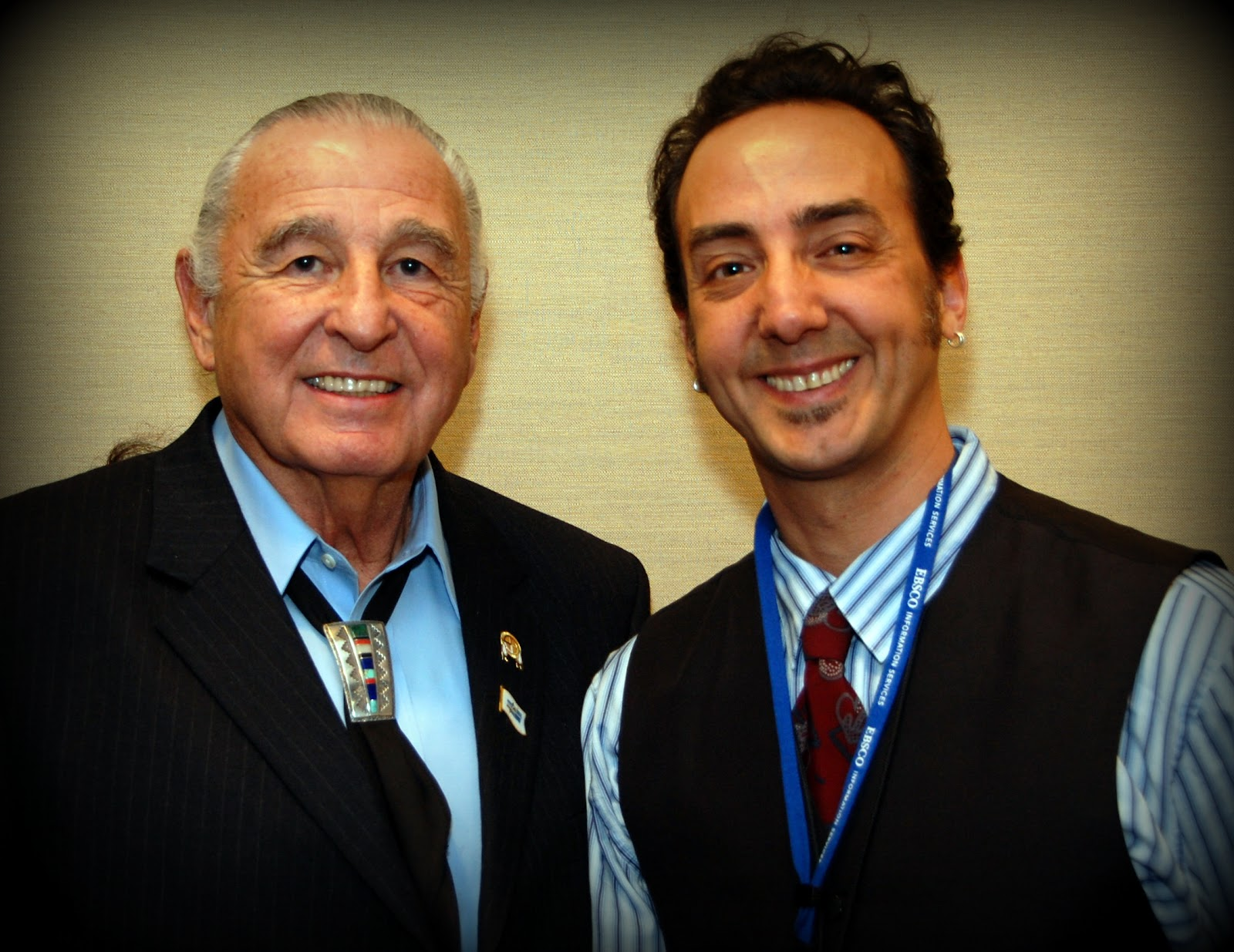 Proud to meet fellow Native Veteran Ret. Senator Ben Nighthorse Campbell - Courtesy Photo: Vincent Schilling