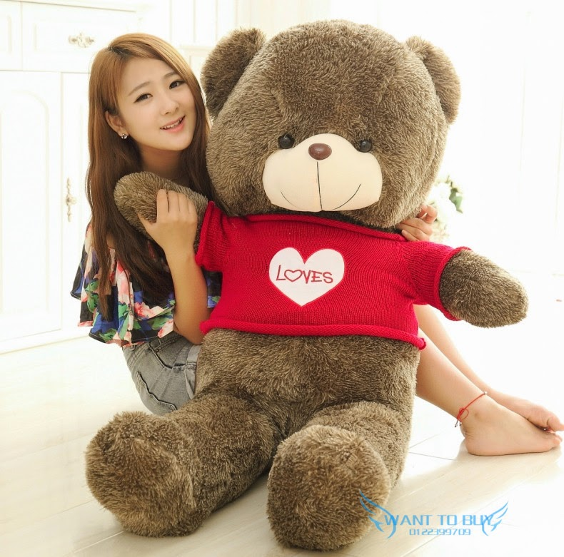 Free Gift + 3 Size Good Qulity Giant Teddy Bear Sweater