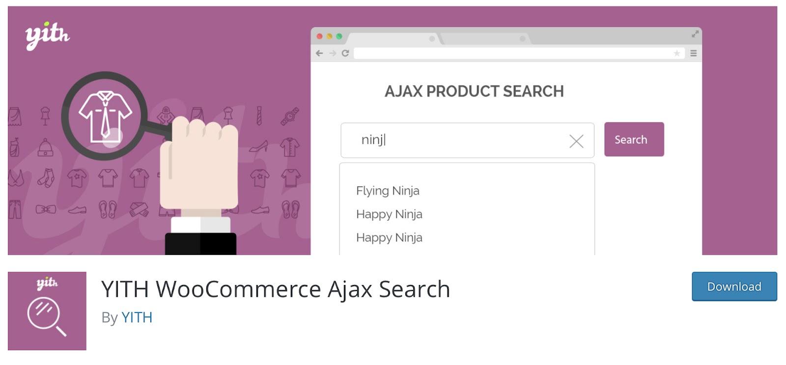 WooCommerce Plugin: YITH Woocommerce AJAX Search