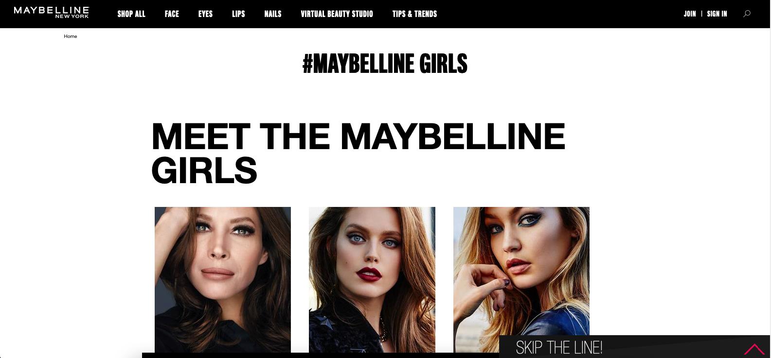 Maybelline brand ambassador program