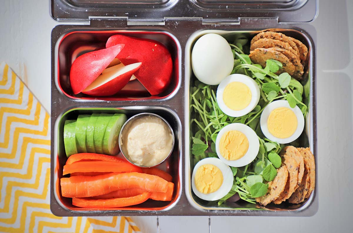 hard boiled egg bento box lunch